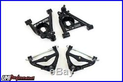 UMI Performance 78-88 G-Body Front Control Arms Kit Std Upper Ball Joint Black