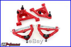 UMI Performance 78-88 GM G-Body New Upper with Ball Joint + Lower A-Arms Kit RED