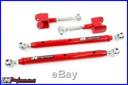 UMI Performance 78-88 Regal G-Body Double Adjustable Rear Control Arms Kit Red