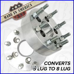 USA MADE 5 Lug to 8 Lug Wheel Adapters / 1.5 Spacers 5x4.5 to 8x6.5