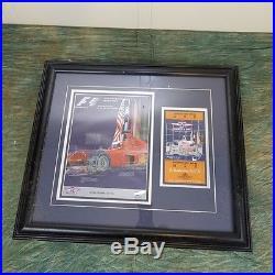 United States Formula 1 Grand Prix, 2000 Framed Program and Ticket to