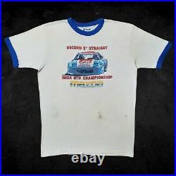VTG 80s Mazda RX-7 IMSA GTU Malibu Grand Prix Ringer Shirt Le Mans Porsche Car M