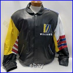 VTG Williams Renault Canon F1 Grand Prix Jeff Hamilton Reversible Leather Jacket