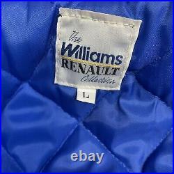 VTG Williams Renault Collection Canon F1 Grand Prix Team Varsity Jacket Large