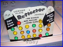 Vintage 1960's nos Kastar store display license plate topper/bolts hot rat rod