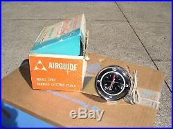 Vintage 1960's nos in box Chrome auto dash gauge service clock gm street rat rod