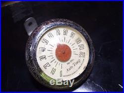 Vintage 50s Tel-Tru dash auto gauge thermometer gm ford chevy rat rod pontiac