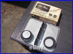 Vintage 50s Window Drive in car hop auto trays gm pontiac ford chevy rat hot rod