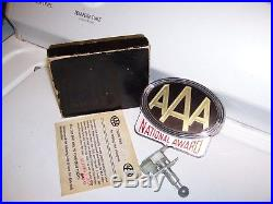 Vintage 50s chrome nos AAA award auto emblem badge gm ford chevy rat rod buick