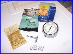 Vintage 50s nos Auto windshield dash Altimeter gm ford chevy rat rod gauge buick