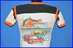 Vintage 80s BUSWEISER GRAND PRIX OF MIAMI SUNSET RACE CAR JERSEY t-shirt SMALL S