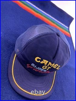 Vintage 80s Camel GT Gran Prix Racing G. I. Joes Mesh Snapback Trucker Hat USA