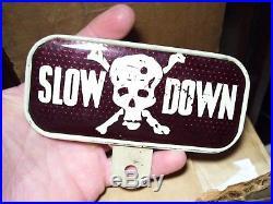 Vintage Death license topper HARLEY KNUCKLEHEAD FLATHEAD PANHEAD BOBBER HOT ROD