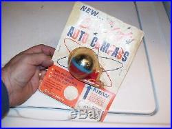 Vintage NOS 50s Orbit Dinsmore Automobile compass gm ford chevy rat rod pontiac