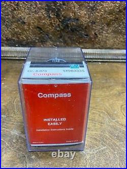Vintage NOS GM Automobile Dash Compass w mount / New in Box / 98335