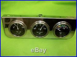 Vintage NOS STEWART WARNER Gauge Set Rat Rod Gasser SCTA Mopar Ford GM