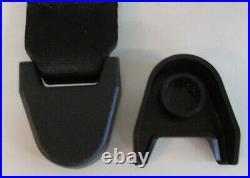 Vintage Non Retractable Black Lap Seat Belt Deluxe 2 Person/Position Kit, 60
