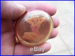 Vintage Pinup shift knob HARLEY KNUCKLEHEAD FLATHEAD PANHEAD BOBBER HOT ROD OLD