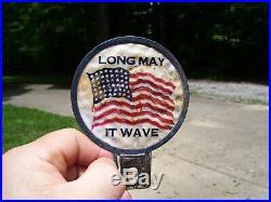 Vintage Plate topper Flag USA HARLEY KNUCKLEHEAD FLATHEAD PANHEAD BOBBER HOT ROD