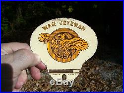 Vintage Plate topper license HARLEY KNUCKLEHEAD FLATHEAD PANHEAD BOBBER HOT ROD