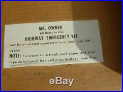 Vintage Pontiac Chevy Buick Olds Cadillac Accessory GM Highway Emergency Kit GTO