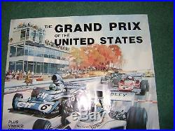 Vintage Racing Poster The Grand Prix Of The United States Waktins Glen