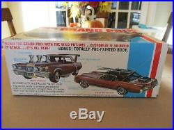 Vintage Rare 1972 MPC Pontiac Grand Prix unbuilt model car kit 1/25 scale