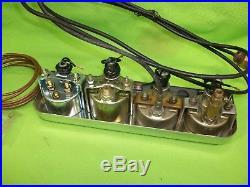 Vintage STEWART WARNER Quad Under Dash Gauge Set Gasser Hot Rat Rod