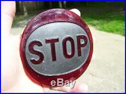 Vintage STOP TAIL LENS GLASS HARLEY KNUCKLEHEAD FLATHEAD PANHEAD BOBBER HOT ROD