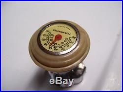Vintage Steering wheel knob thermometer gauge gm ford chevy rat rod mopar bomba