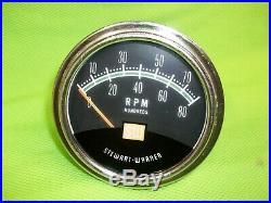 Vintage Stewart Warner 8K Greenline Tachometer Rat Rod Gasser Mopar Ford GM