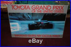 Vintage Toyota Grand Prix United States Poster-Watkins Glen NY 1980-Car Race
