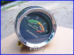 Vintage nos 1960s GM Pontiac GTO Chrome Manifold Vacuum Gauge Bonneville 2+2 oem