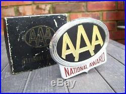 Vintage nos in box AAA automobile emblem badge award chrome gm street rat rod