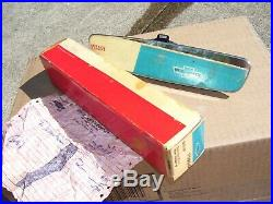Vintage nos original GM 64-72 Delco guide non Glare Chevy Rearview Mirror Camaro