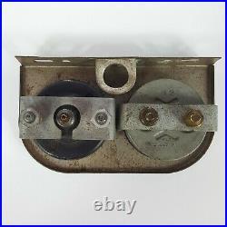 Vtg Dual Gauge Combo Metal Panel Oil Temp Amperes Hotrod Gauges Gasser Amps USA