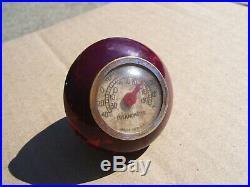 Vtg Thermometer Shift knob HARLEY KNUCKLEHEAD PANHEAD FLATHEAD BOBBER HOT ROD