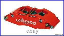 Wilwood 70-78 Camaro Firebird Front Disc Big Brake Kit 12.19 Drilled Rotor Red