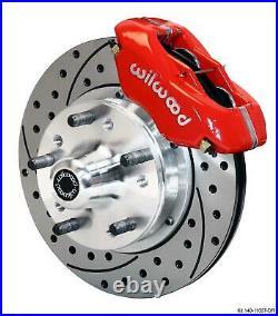Wilwood 70-78 Camaro Firebird Front Disc Brake Kit 11 Drilled Rotor Red Caliper
