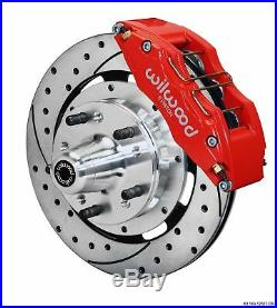 Wilwood 78-88 Monte Carlo Front Disc Brake Kit 12.19 Drilled Rotor Red